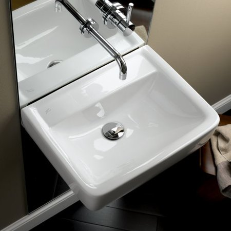 Bissonnet Elements Renova 55 St 22 Wall Mounted Bathroom Sink With Overflow