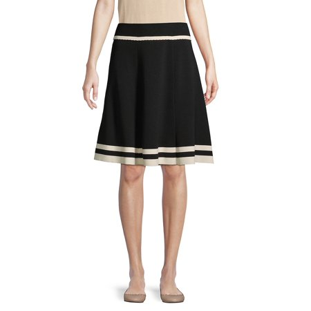 Anne Klein Lined Skirt (Knit Flare Pleated Skirt )