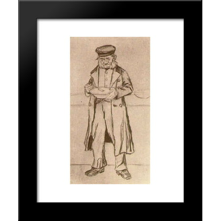 Orphan Man with Cap, Eating 20x24 Framed Art Print by Vincent van Gogh - Man Eating Plant