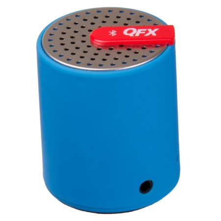 QFX CS-27BT Portable Bluetooth Speaker with AUX-IN (Blue)