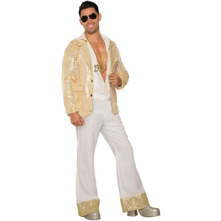Mens 70'S White Sequin Pants](70's Themed Party)