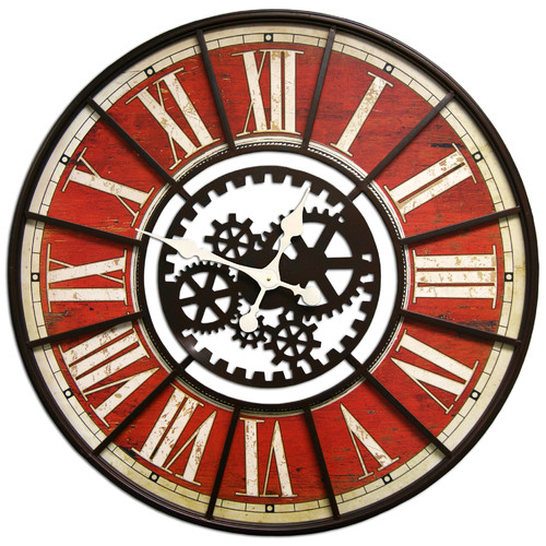 HDC International Round Gears Clock
