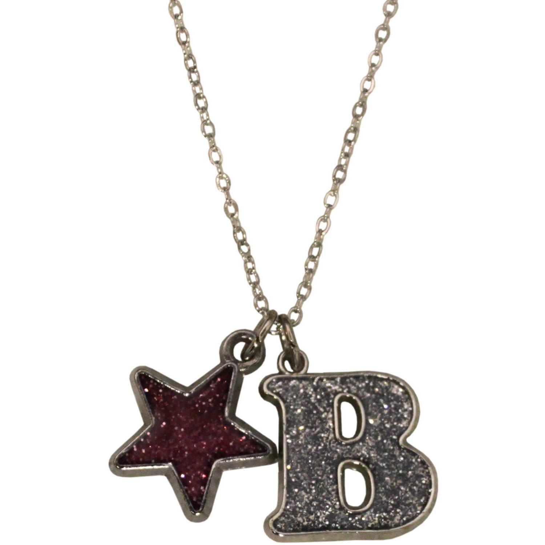 Gloria Duchin Glitter Initial B Necklace