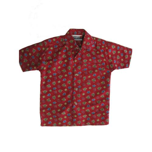 ABC Brand Name Inc. Timber Baby Boys Red Bug Allover Printed Long Sleeve Button Shirt 12M - 24M