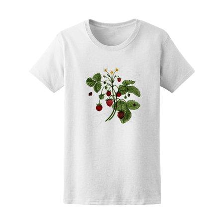 Vintage Wild Strawberry Bush Tee Womens  Image By Shutterstock