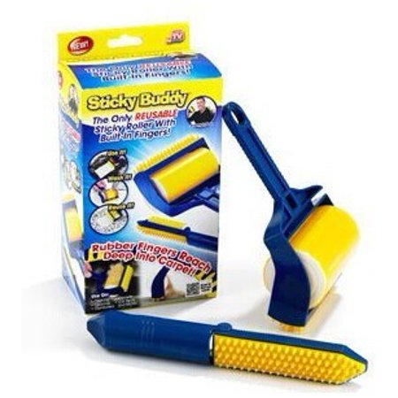 As Seen On TV--Sticky Buddy, Reusable Sticky Picker Cleaner Lint Roller Pet Hair Remover Brush - Walmart.com