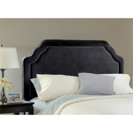 Hillsdale Carlyle Upholstered Full Queen Panel Headboard in Black