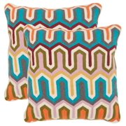 Stenciled Arrow Decorative Pillows in Multicolor - Set of 2 (18 in. L x 18 in. W (4 lbs.))