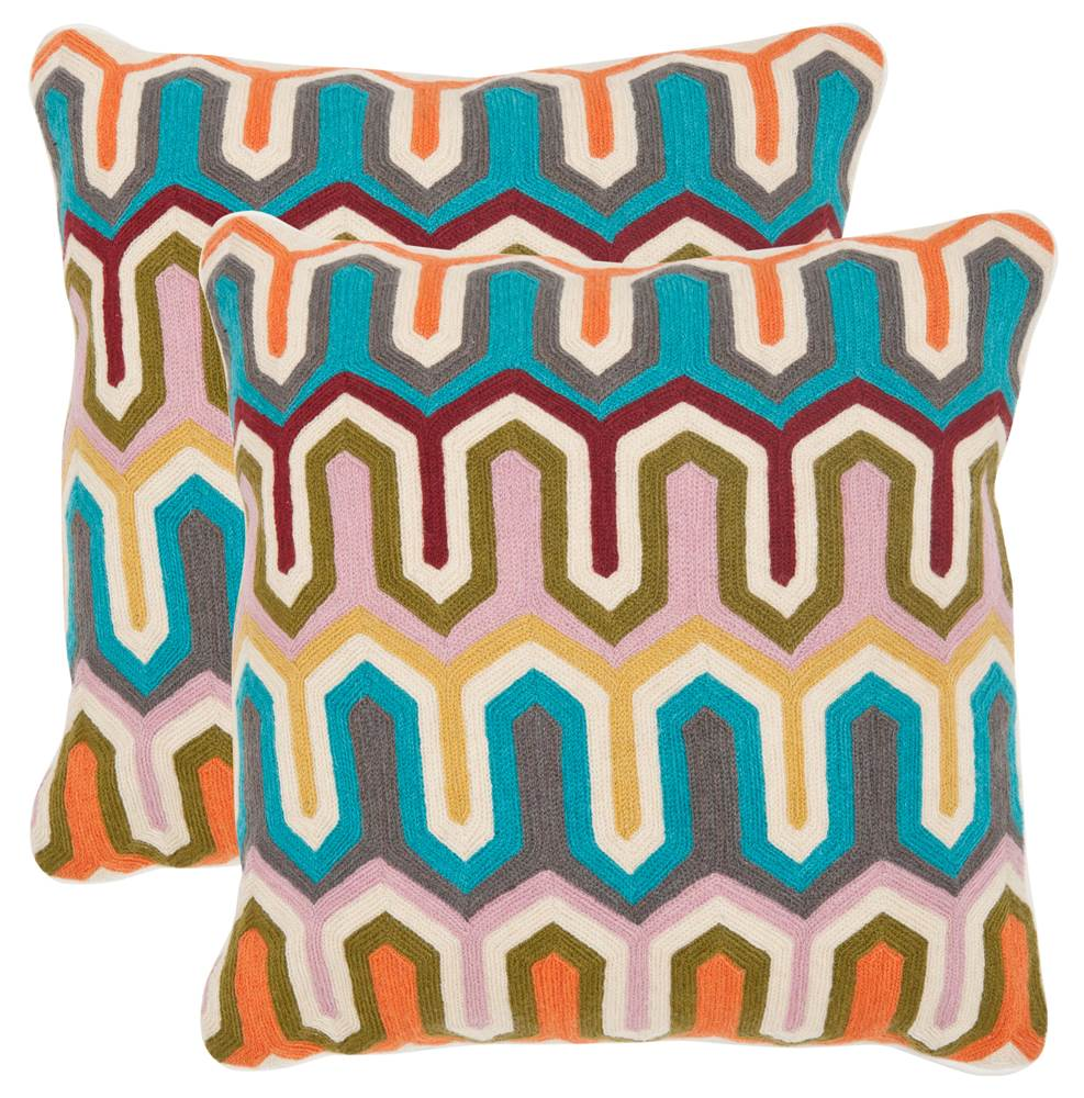 Safavieh Stenciled Arrow Cotton Throw Pillow (Set of 2)