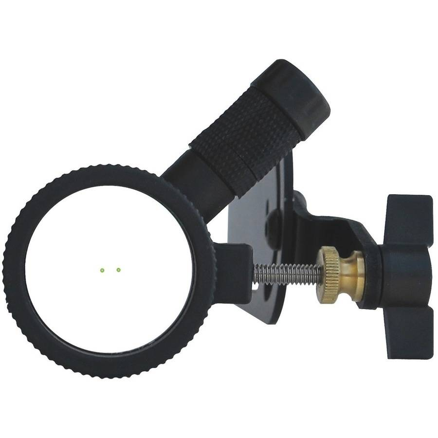 Hind Sight Center Shot Sight with 2X Lens, RH/LH, Black with LED Light