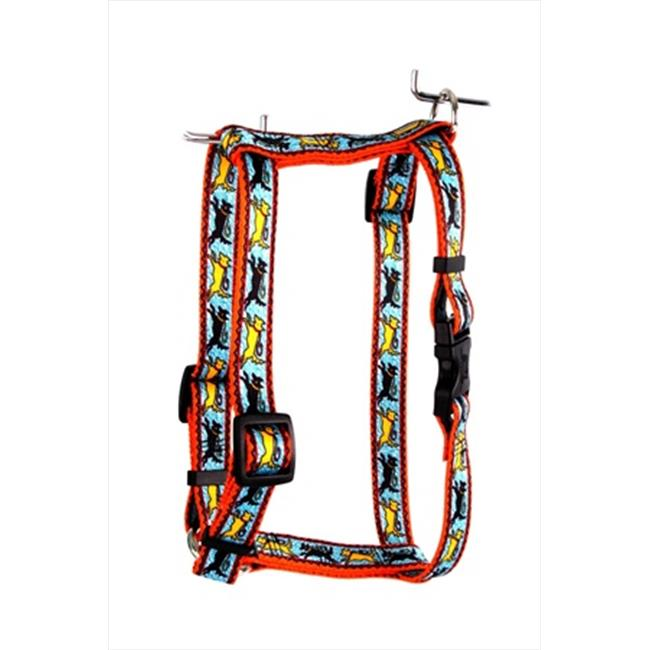 Yellow Dog Design SI-BYD103L Black and Yellow Dog Step-In Harness - Large