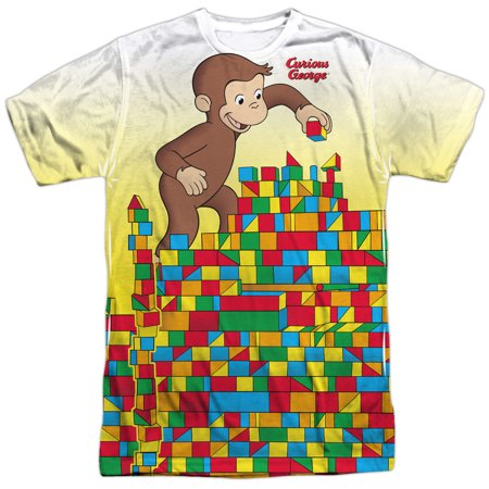 Curious George Adult Shirt (Curious George Books Cartoon Movie TV Monkey Play Adult 2-Sided Print)