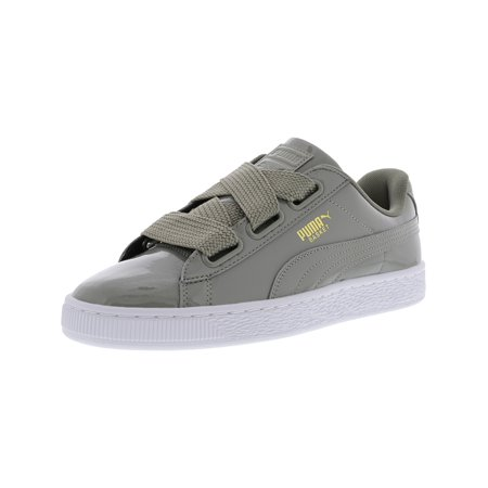 c7fbace1b8f45 Puma - Puma Women s Basket Heart Patent Rock Ridge   Ankle-High Fashion  Sneaker - 10M - Walmart.com