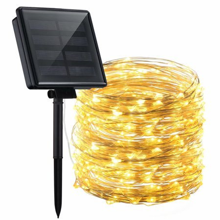 Mpow Solar Powered String Lights, 200 LED Copper Wire Lights, Starry String Lights, 72ft IP65 Waterproof Solar String Lights Outdoor Indoor Patio Garden Christmas Decorative ()