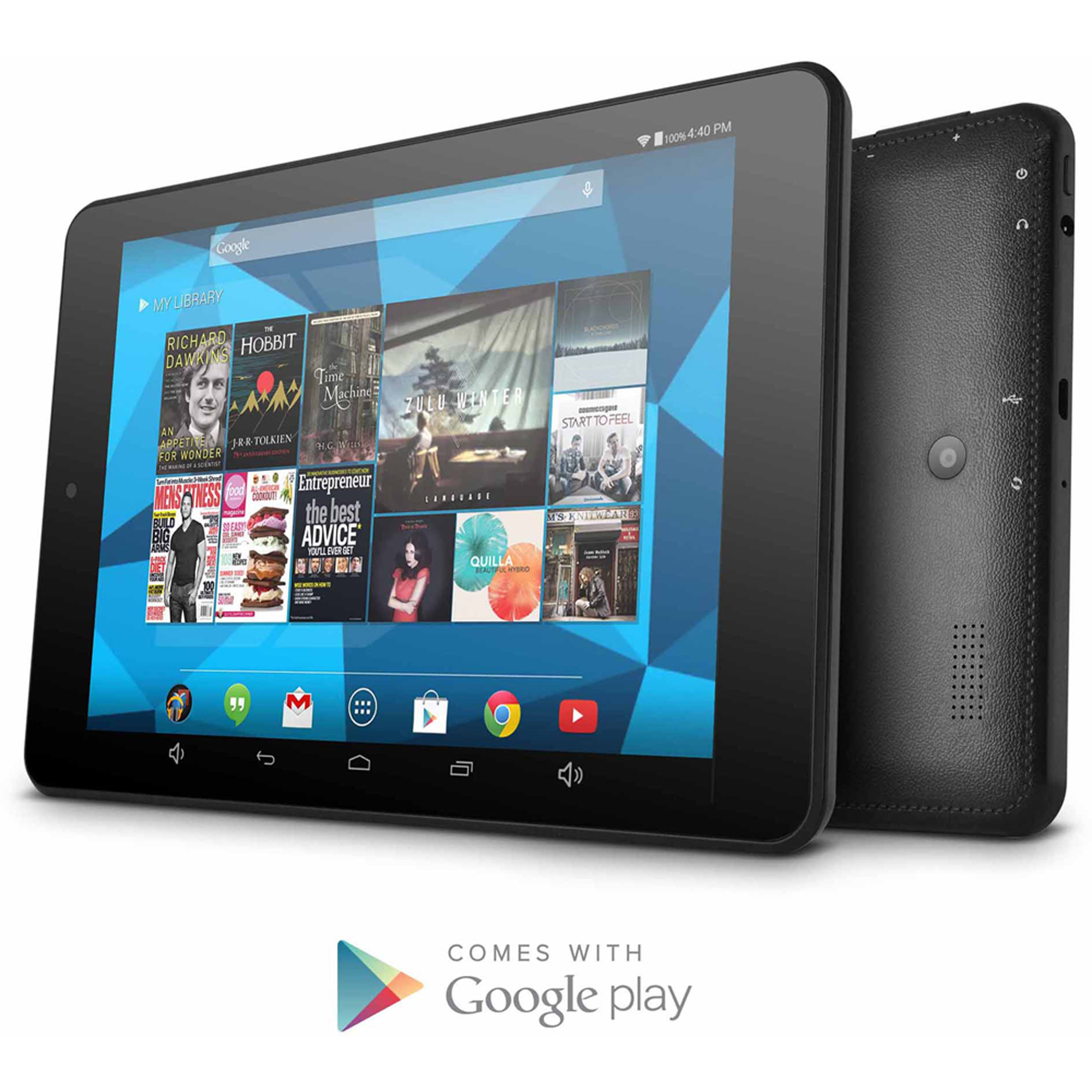 "Ematic HD with 8"" Touchscreen Tablet PC Featuring Android 4.4 (KitKat) Operating System, Black"