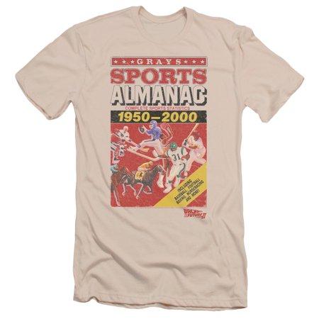 Back To The Future II Sports Almanac Mens Slim Fit Shirt CREAM LG