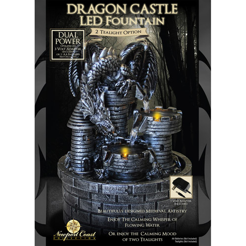 Newport Coast Collection Dragon Castle LED Fountain