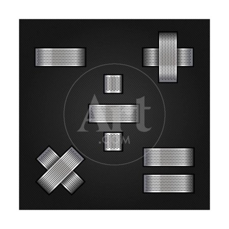 Letter Metal Chrome Ribbon - Mathematical Signs Print Wall Art By Ecelop ()