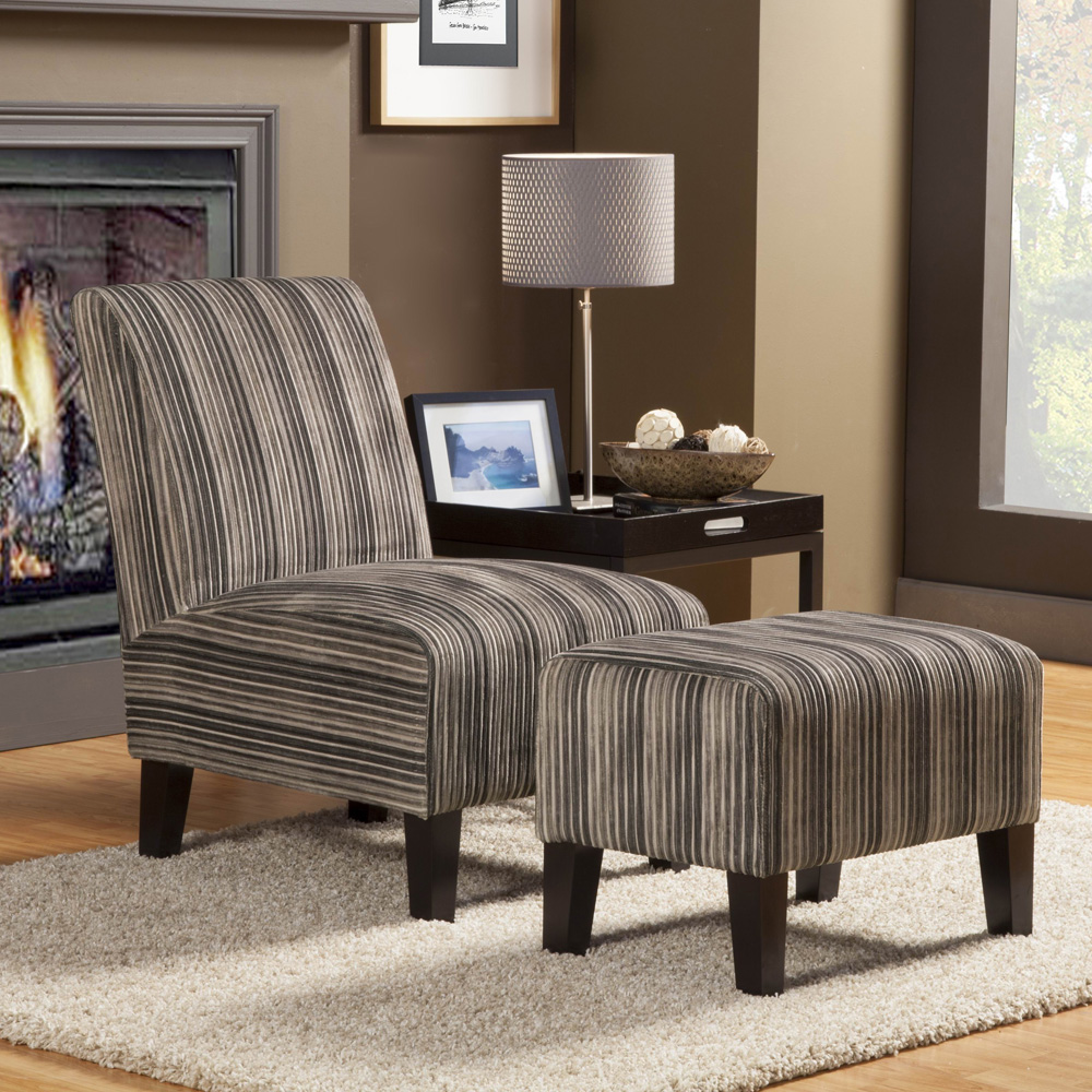 Woodhaven Hill Ione Side Chair and Ottoman