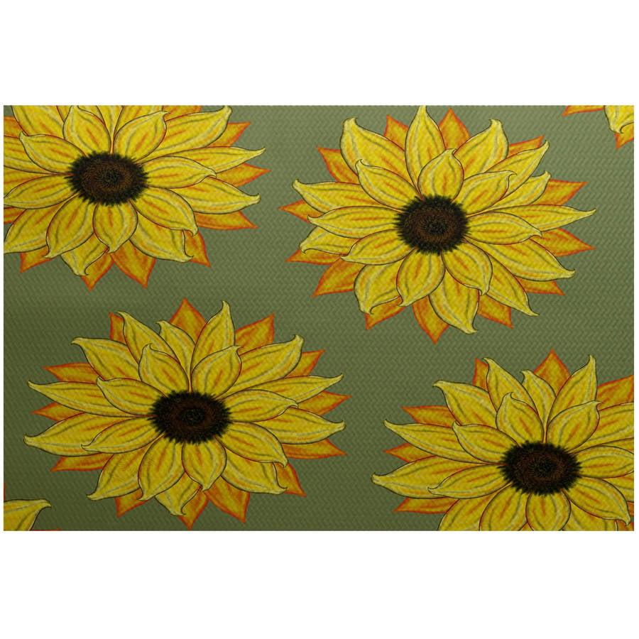 Simply Daisy 3' x 5' Sunflower Power Flower Print Indoor Rug