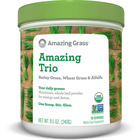 Amazing Grass Amazing Trio Alfalfa, Barley, & Wheatgrass Powder, 30 Servings
