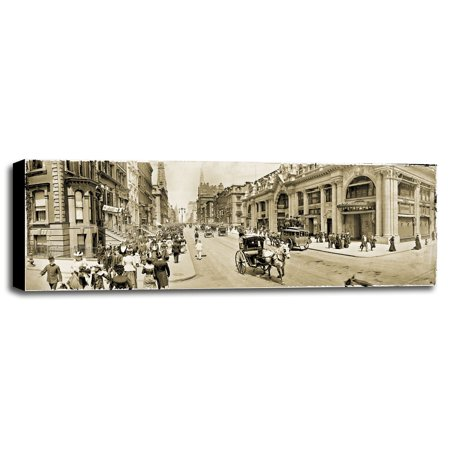 "Fifth Ave 1902-MINPHO117717 Print 7.5""x22"" by Mindy Sommers - Photography in a Canvas Stretched on 1.5"" Bars"