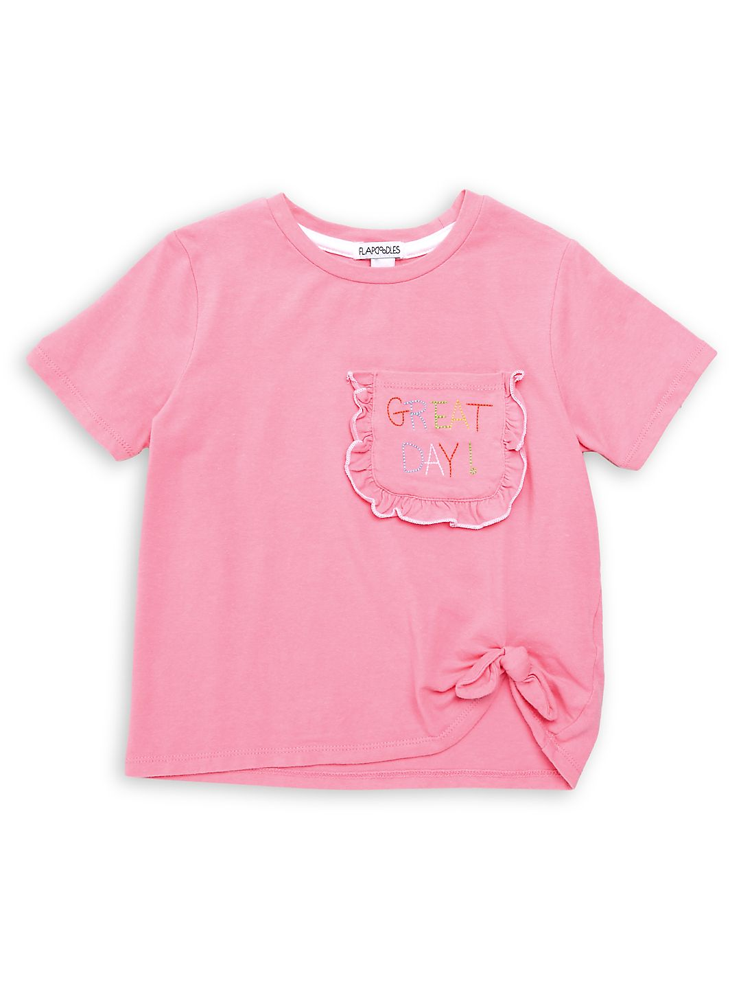 Girl's Stretch-Cotton Tee