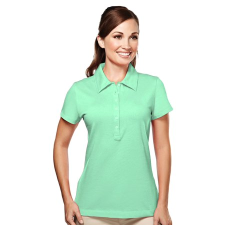 Tri-Mountain Women's 6 Button Fitted Knit Golf - Crest Golf Shirt