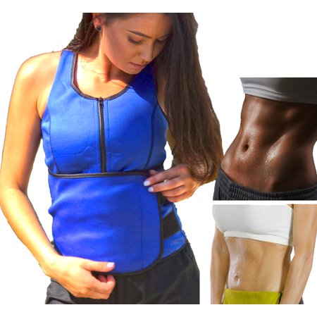 756ad87e12 Hot Neoprene Slimming Vest With Adjustable Belt   Zipper Front - Sweat  Thermal Weight Loss Sauna Waist Trainer Corset For Weight Loss