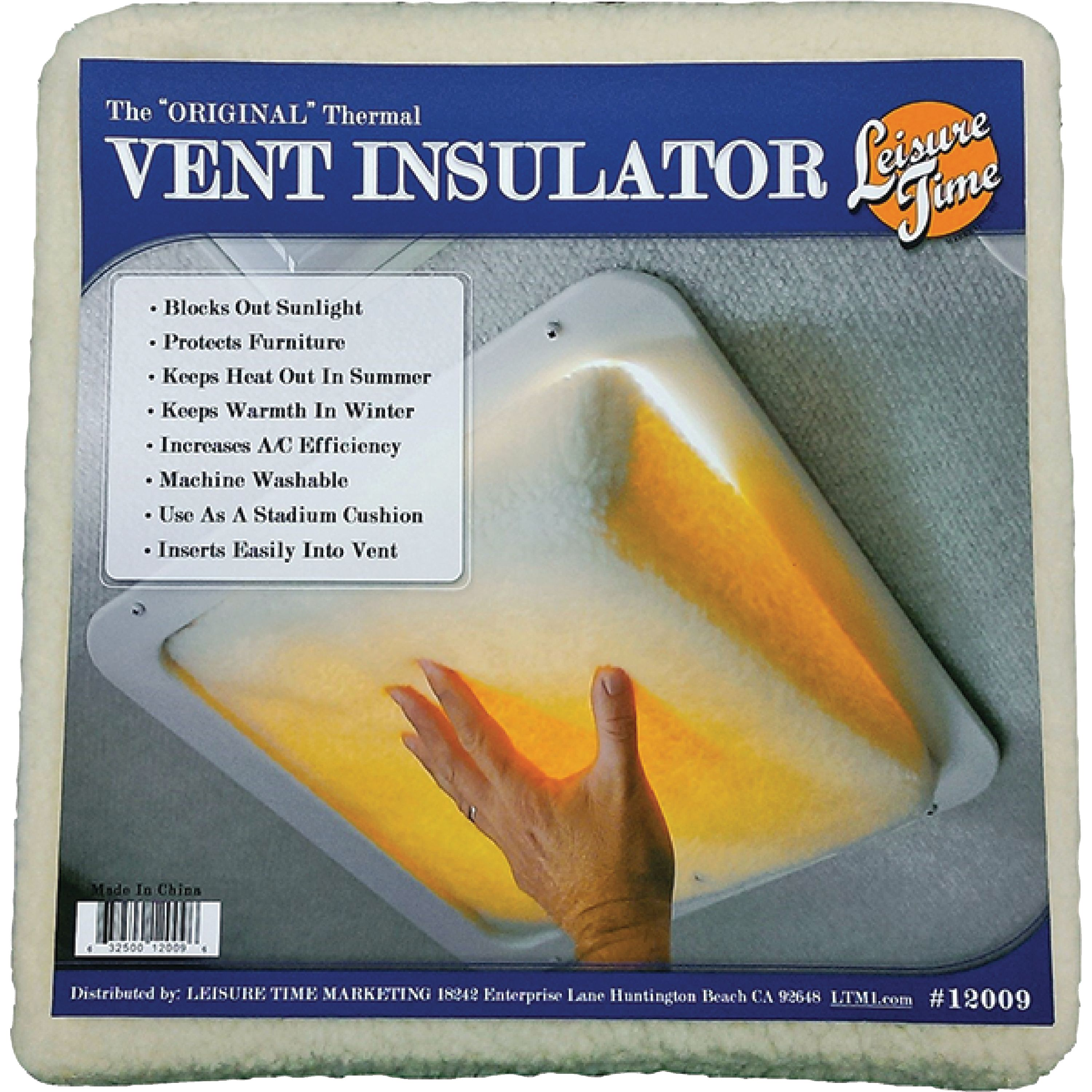 Leisuretime 12009 Thermal Insulation Plug for RV Roof Vent