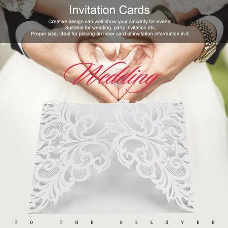 FASHCOOL 10Pcs Flower Wedding Invitation Cards Envelopes Seals Cover Wedding Decor DEALS for 2018 - Wedding Envelope Seals