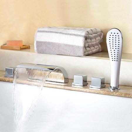 HEHEINC Top Grade Bathroom Shower Faucet Set Bath Tub Mixer Spout Shower