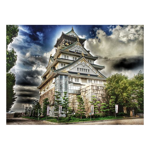 Prestige Art Studios Osaka Castle Photographic Print on Wrapped Canvas