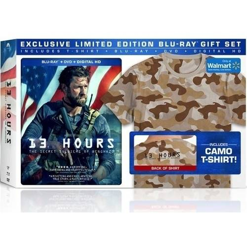 13 Hours: The Secret Soldiers Of Benghazi (Blu-ray + DVD + Digital HD + Exclusive Camo T-Shirt!) (Walmart Exclusive) (With INSTAWATCH))