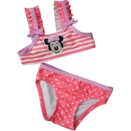 Infant Toddler Girls Disney Minnie Mouse Stripe Polka Dot 2-Piece Swimming Suit](Minnie Mouse Suit)