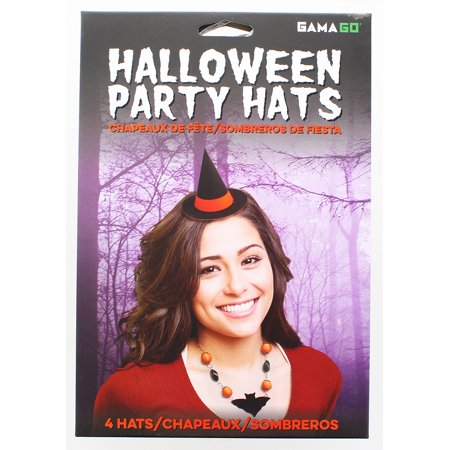 Halloween Witch Mini Party Hats: Set of 4 - Knife Party Halloween Mini Tour
