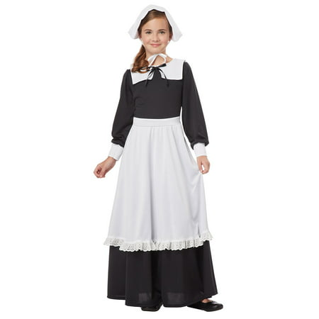 Girls Pilgrim Colonial Halloween Costume (Dog Pilgrim Costume)