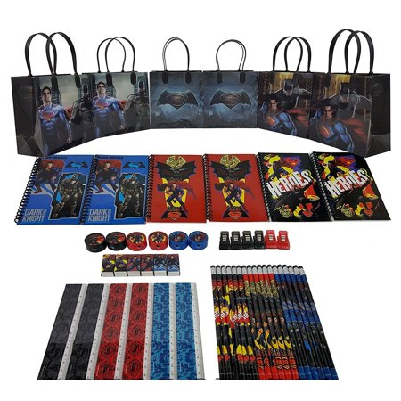 Party Favors DC Batman VS Superman Goody Bag Party Favor w/Stationery - Superman Party Favors