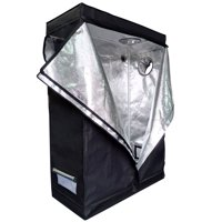 "Zimtown 48"" x 24"" x 72"" Hydroponic Water-Resistant Grow Tent with Removable Floor Tray for Indoor Seedling Plant Growing"
