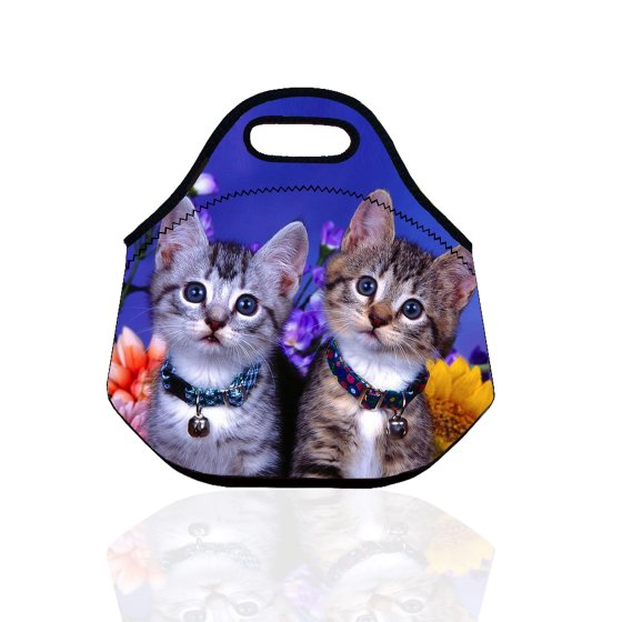 Popeven Cat Design Thermal Travel Lunch Bag School Work Insulated Lunch Box Tote For Girls Adults