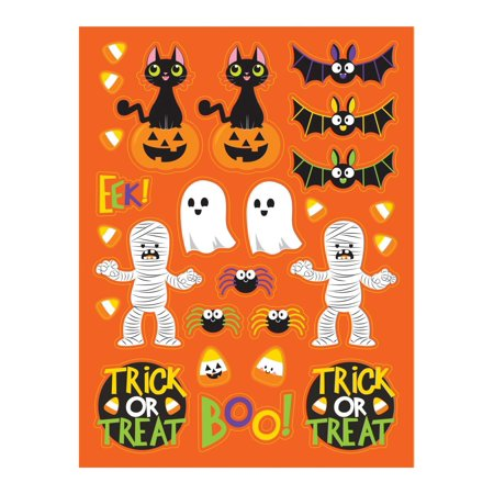 Creative Converting Spooky Friends Stickers, 4 ct - Halloween Ideas For 4 Friends