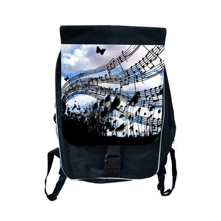 Music Sky Large School Backpack
