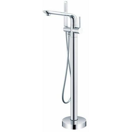 Ariel Bath Single Handle Floor Mounted Freestanding Tub Filler with Hand Shower