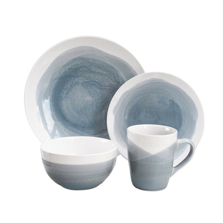 Better Homes & Gardens Brushstroke 16 Piece Dinnerware Set ()