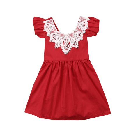 Halloween Opening Remarks (One opening Infant Toddler Flower Girl Romper Lace Collar Cotton Ruffle Sleeve Baby Girls Halloween Christmas)