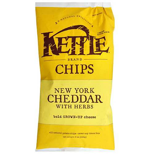 Kettle Brand New York Cheddar Sharing Size Potato Chips, 8.5 oz  (Pack of 12)