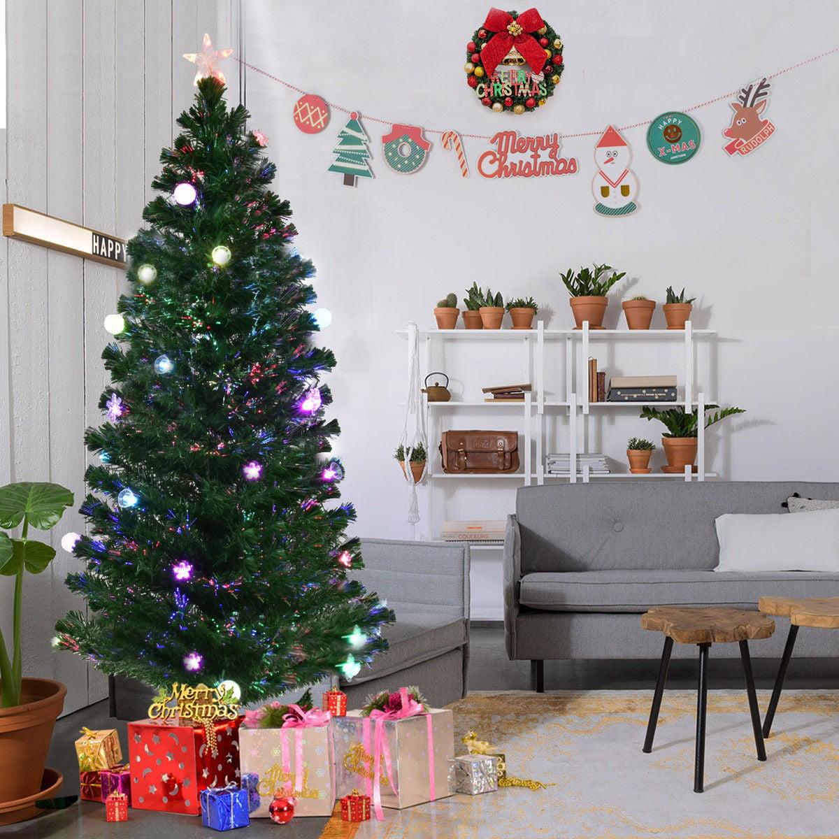 7 5 Fiber Optic Christmas Tree: 7.5' Fiber Optic Artificial Christmas Tree