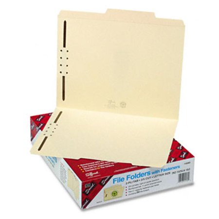 Smead 14580 Folders  Two 2   Capacity Fasteners  2/5 Cut Rt Center  Top Tab  Ltr  MLA  50/Bx - image 1 of 1