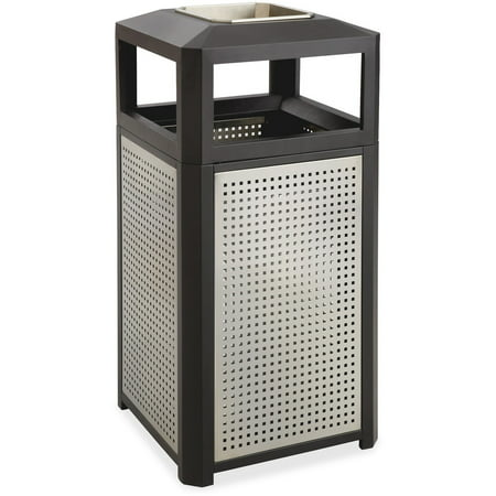 Perforated Steel Waste Receptacle (Safco, SAF9933BL, Evos Ash Tray 15-gal Steel Waste Receptacle, 1,)