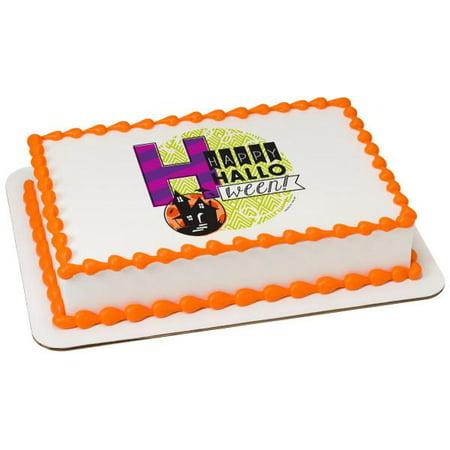 Happy Halloween Edible Cake Topper Image